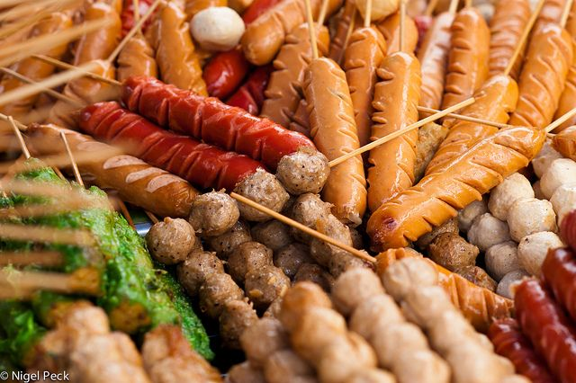 food on a stick   Stick Food - Thai Street Food on Sticks   Flickr - Photo Sharing!