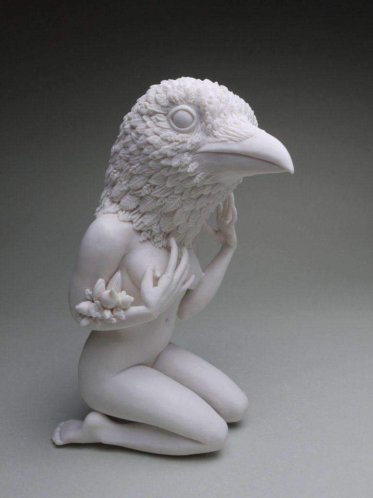 Crystal Morey New Symbiosis Raven Sculpture Sculpture Art Figurative Sculpture