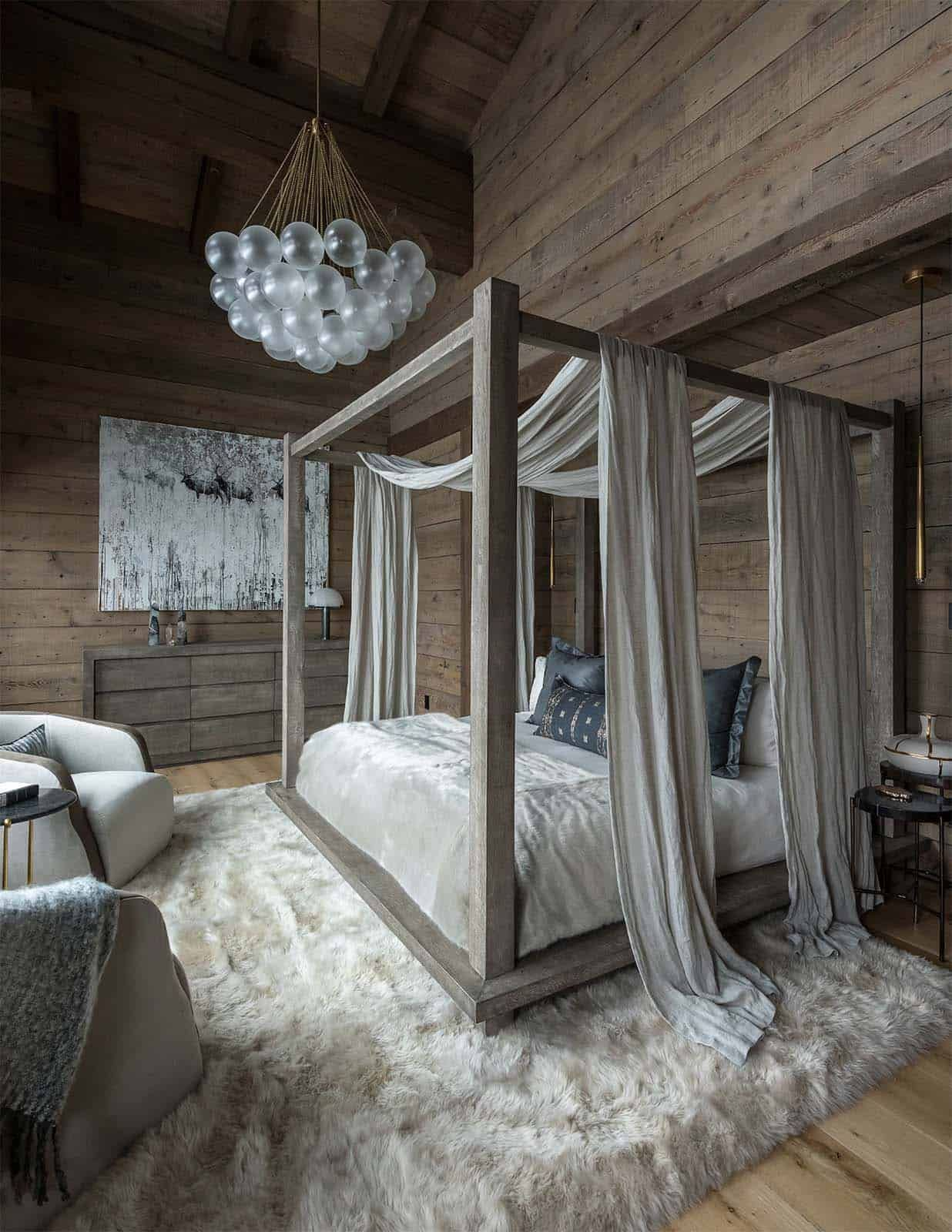 Swiss chalet-inspired home provides cozy refuge in snowy Montana #palletbedroomfurniture