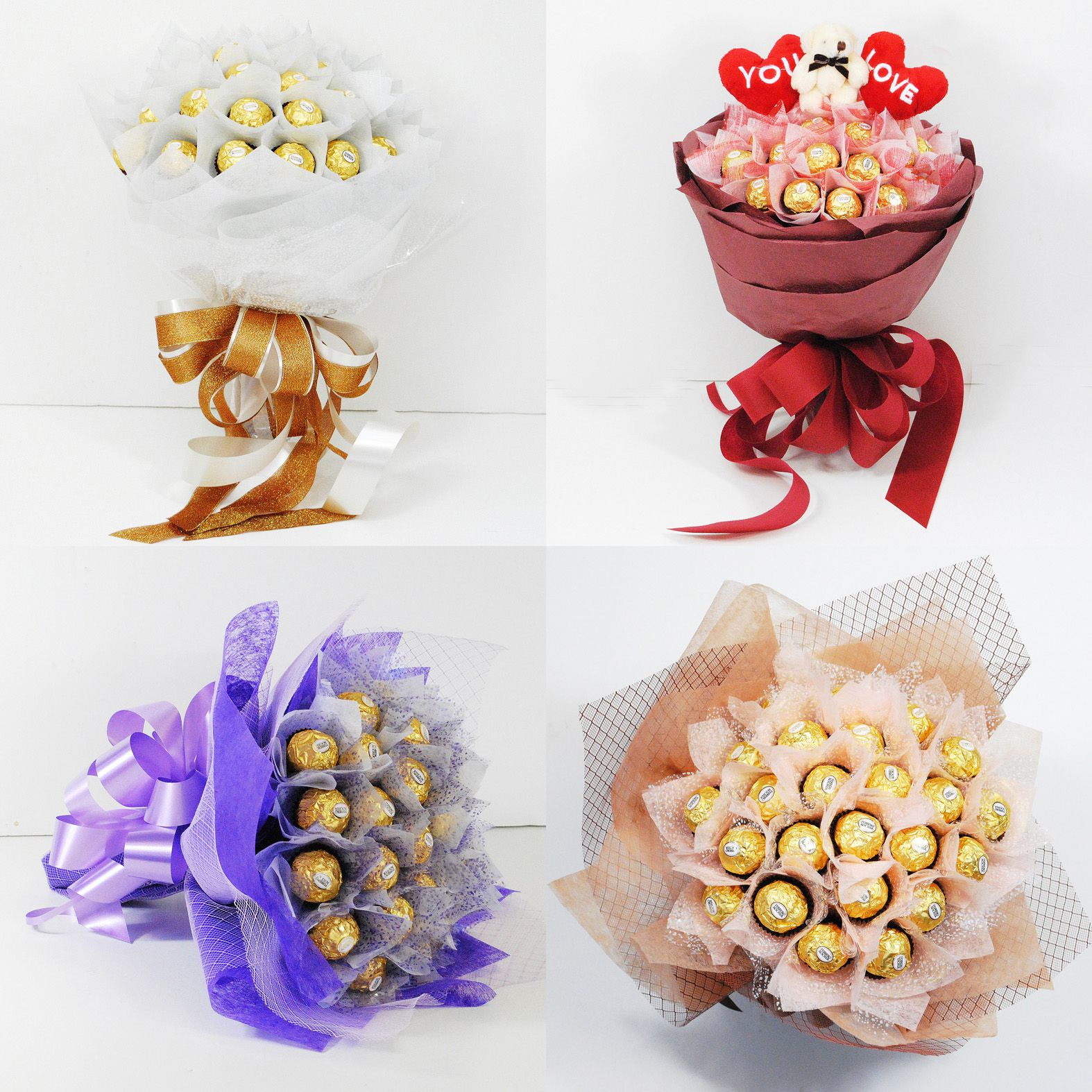 Chocolate bouquet on pinterest candy flowers bouquet of chocolate - Bouquet De Ferrero Rocher Vanuska Chocolate