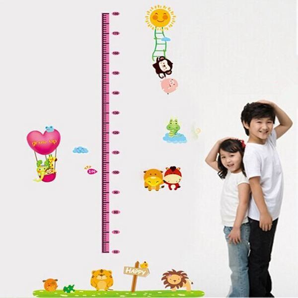 Toddler Baby Room Removable Vinyl Wall Stickers Child Height Home Decoration