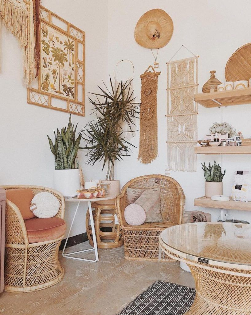 17 Boho Interiors That Are Totally Rocking The Rattan Trend Boho Interiors Decor Home Decor #wicker #living #room #set