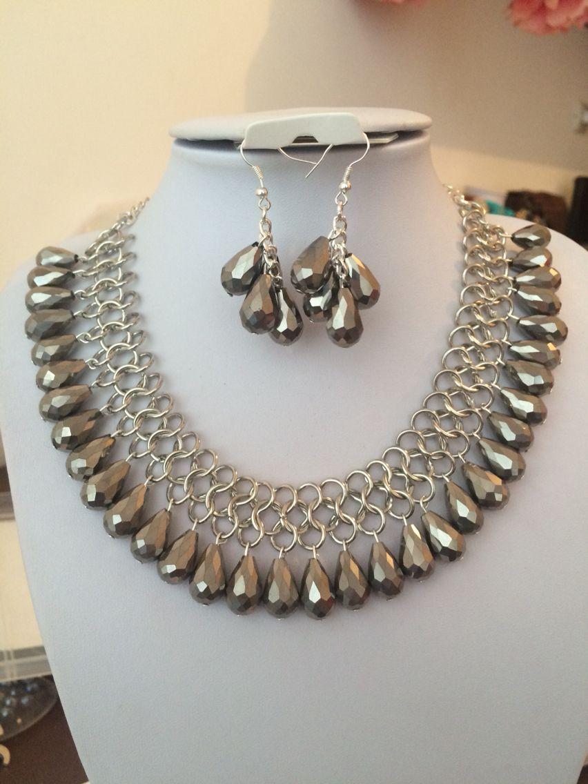 62b91bdb2ed3 Color plata Collar De Hilo