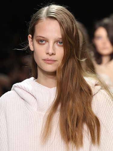 Chloe-Autumn/Winter 2014 beauty trend report :: Hair and makeup trends - Cosmopolitan- Use violet tones on eyes