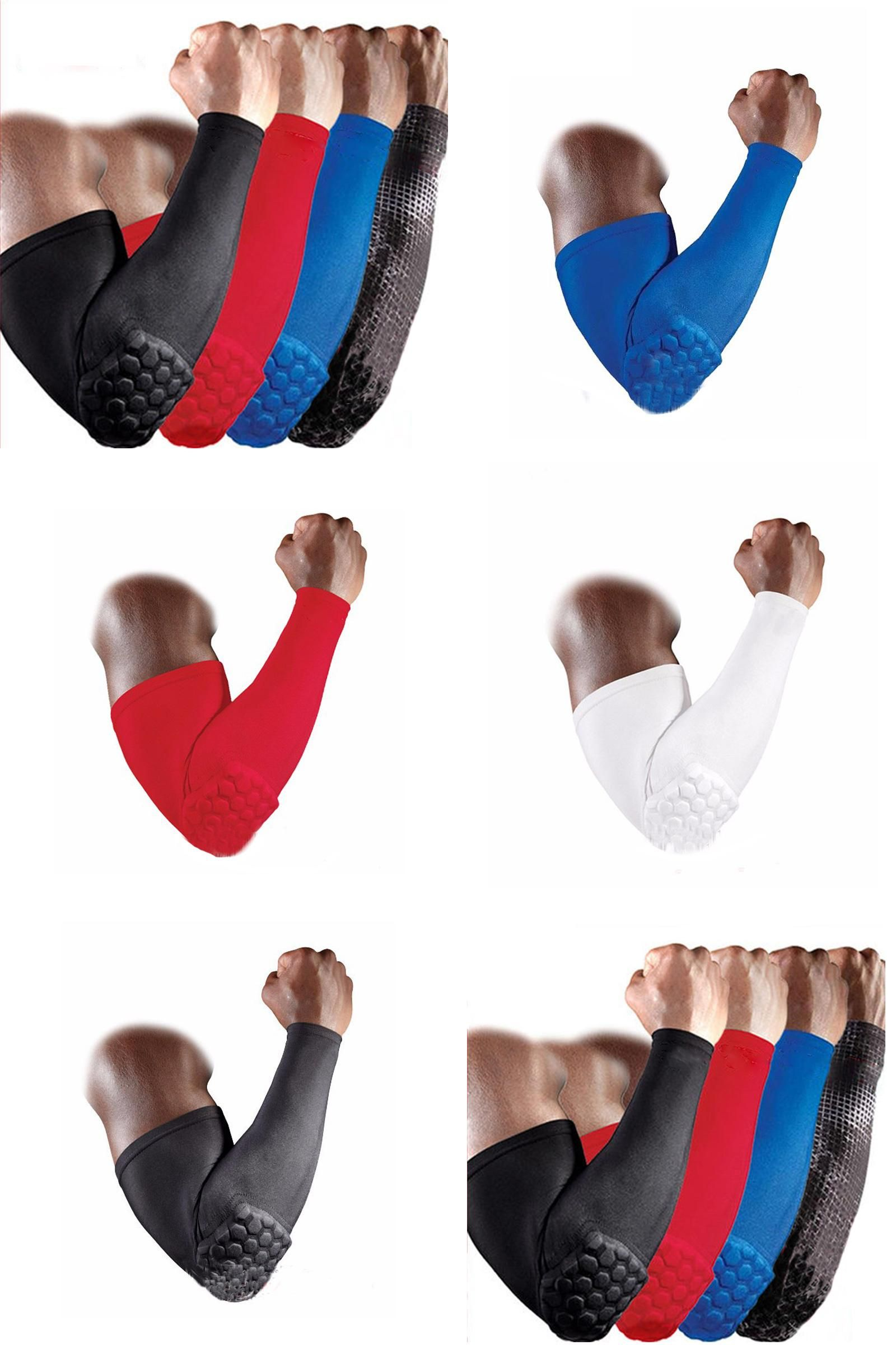 Visit To Buy 1pcs Basketball Volleyball Honeycomb Elbow Pads Protector Elbow Support Brace Guard Elastic Sport S Elbow Pads Elbow Support Elbow Support Brace