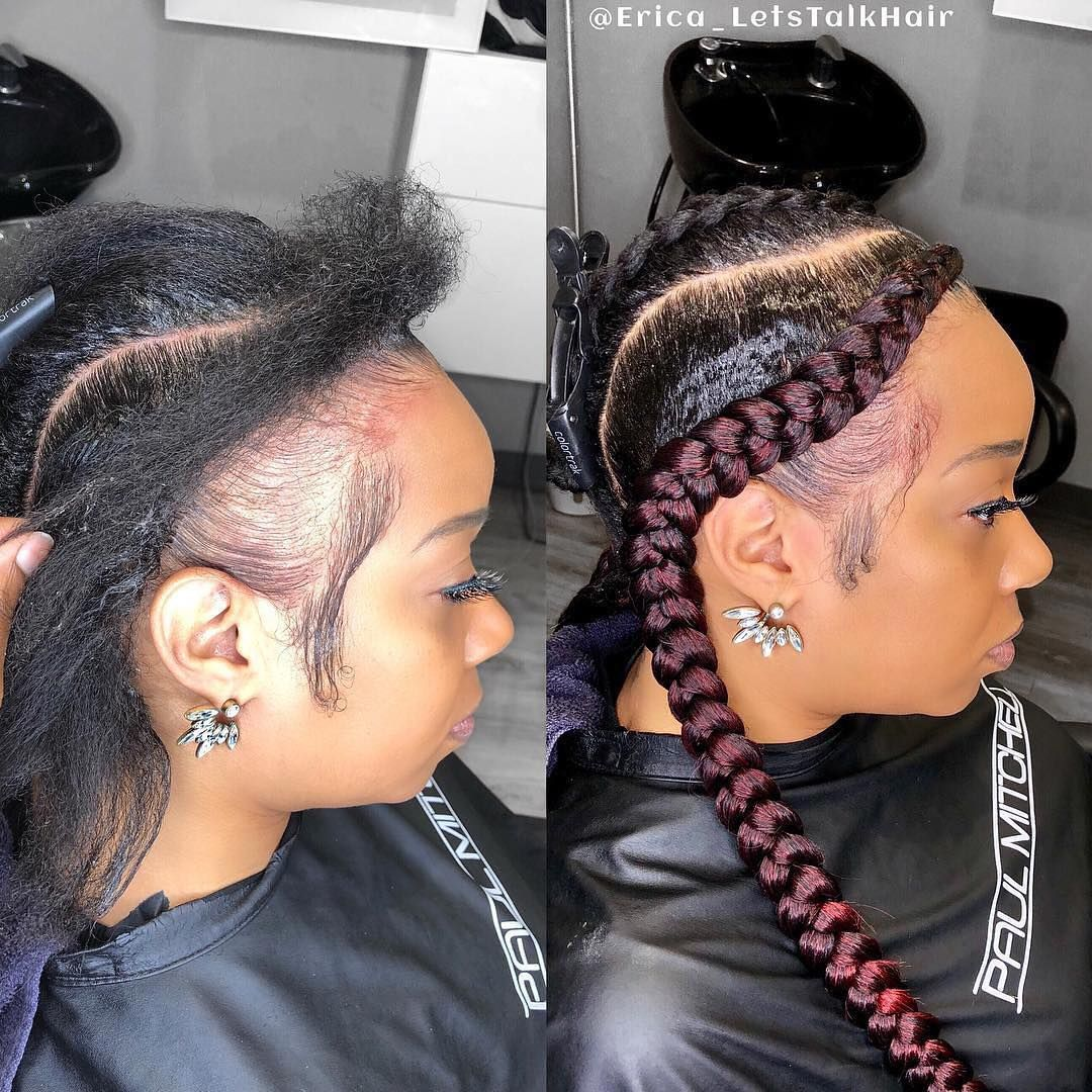 Image May Contain 2 People Closeup Two Braids Hairstyle Black