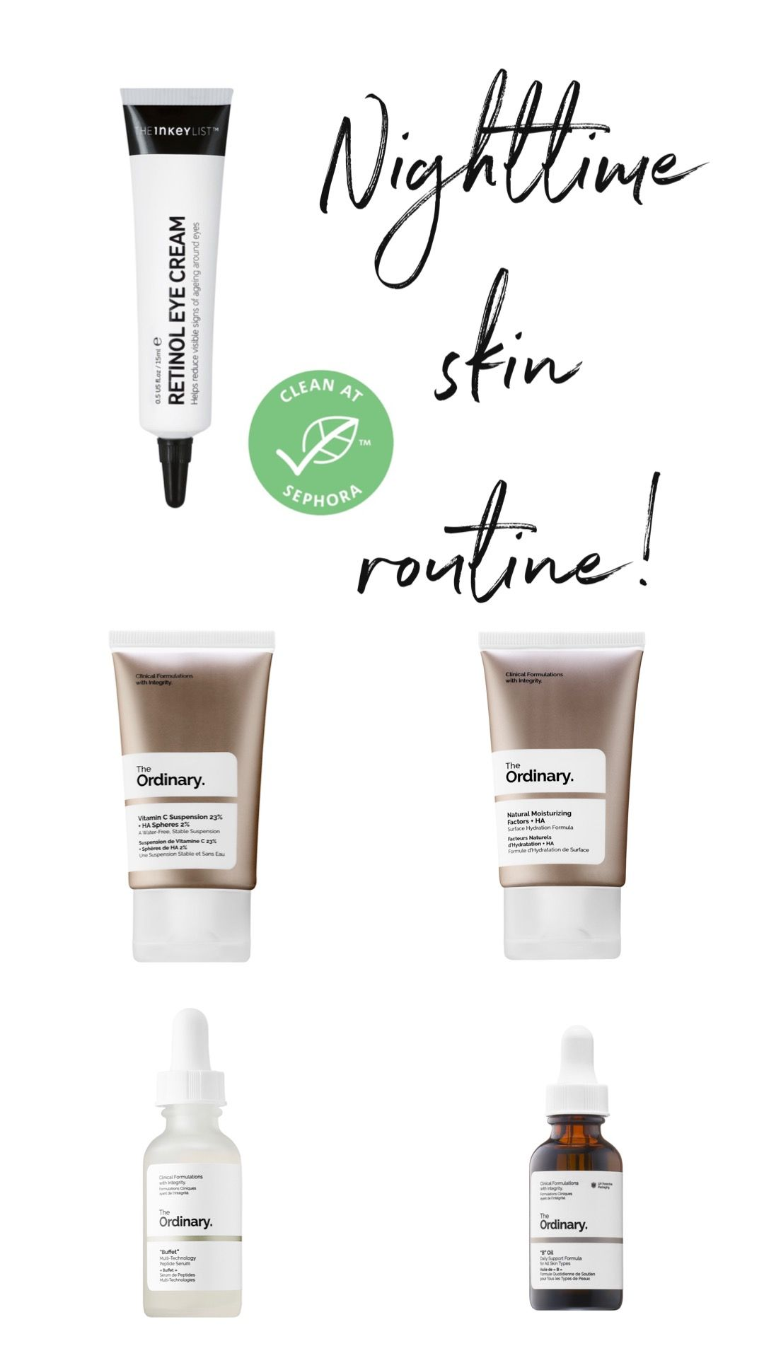 The Ordinary In 2020 Night Time Skin Care Routine Even Out Skin Tone Night Time Skin Routine