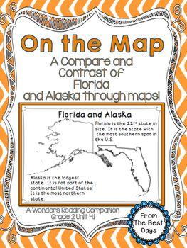 Florida Political Map.On The Map Comparing Florida And Alaska Through Maps Tpt Social