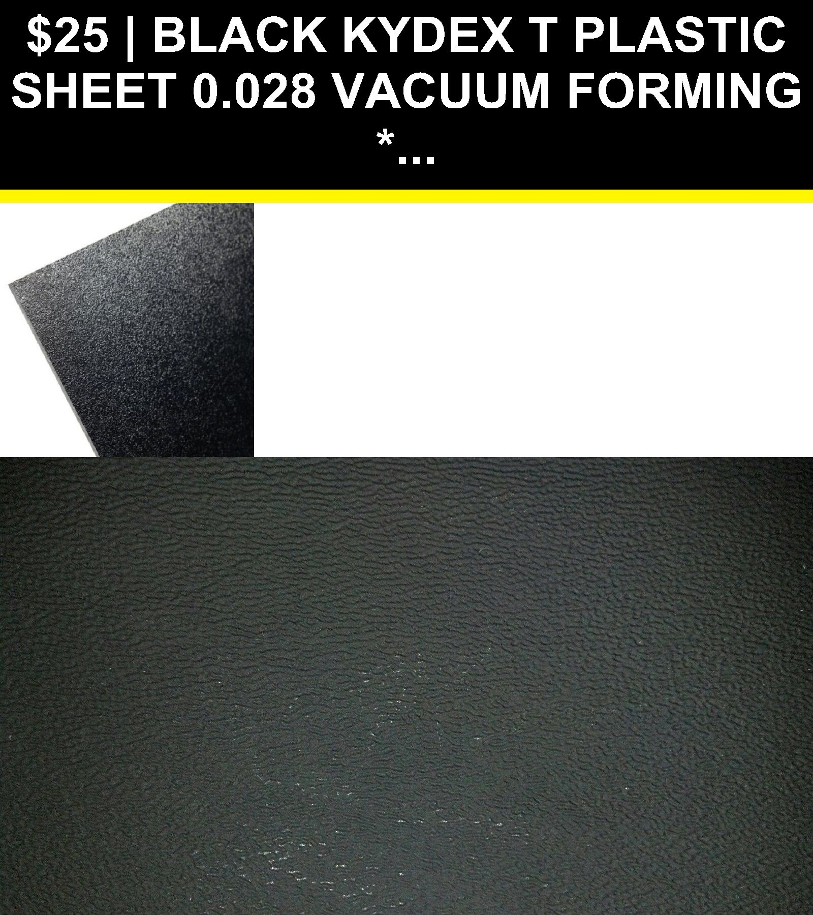 Black Kydex T Plastic Sheet 0 028 Vacuum Forming You Pick Size Plastic Sheets Kydex Vacuum Forming