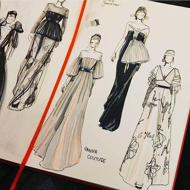 "Photo of Fashionary on Instagram: ""@yaninafashion Haute Couture 2016 #parisfashionweek sketched on #fashionary by @niunka_kaminska"""