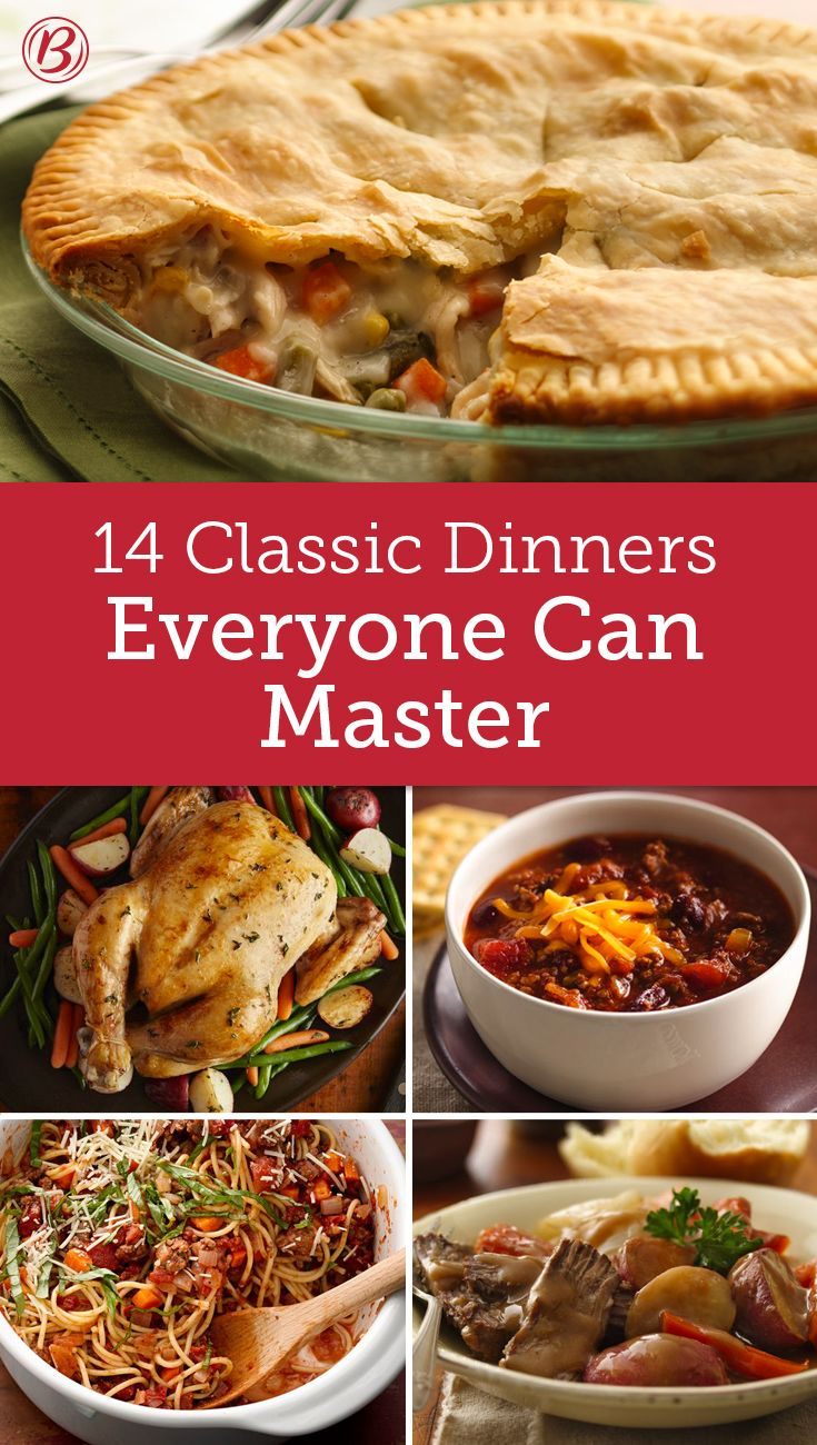 14 classic dinners everyone should know how to make dinner made easy. Black Bedroom Furniture Sets. Home Design Ideas