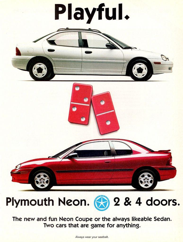 Dodge Neon Concept auto ad Old Print