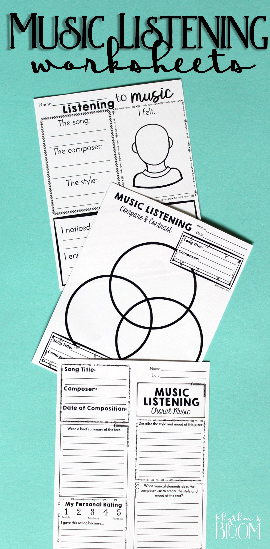 Music Listening Worksheet Bundle | Music Class - Sub Plans ...