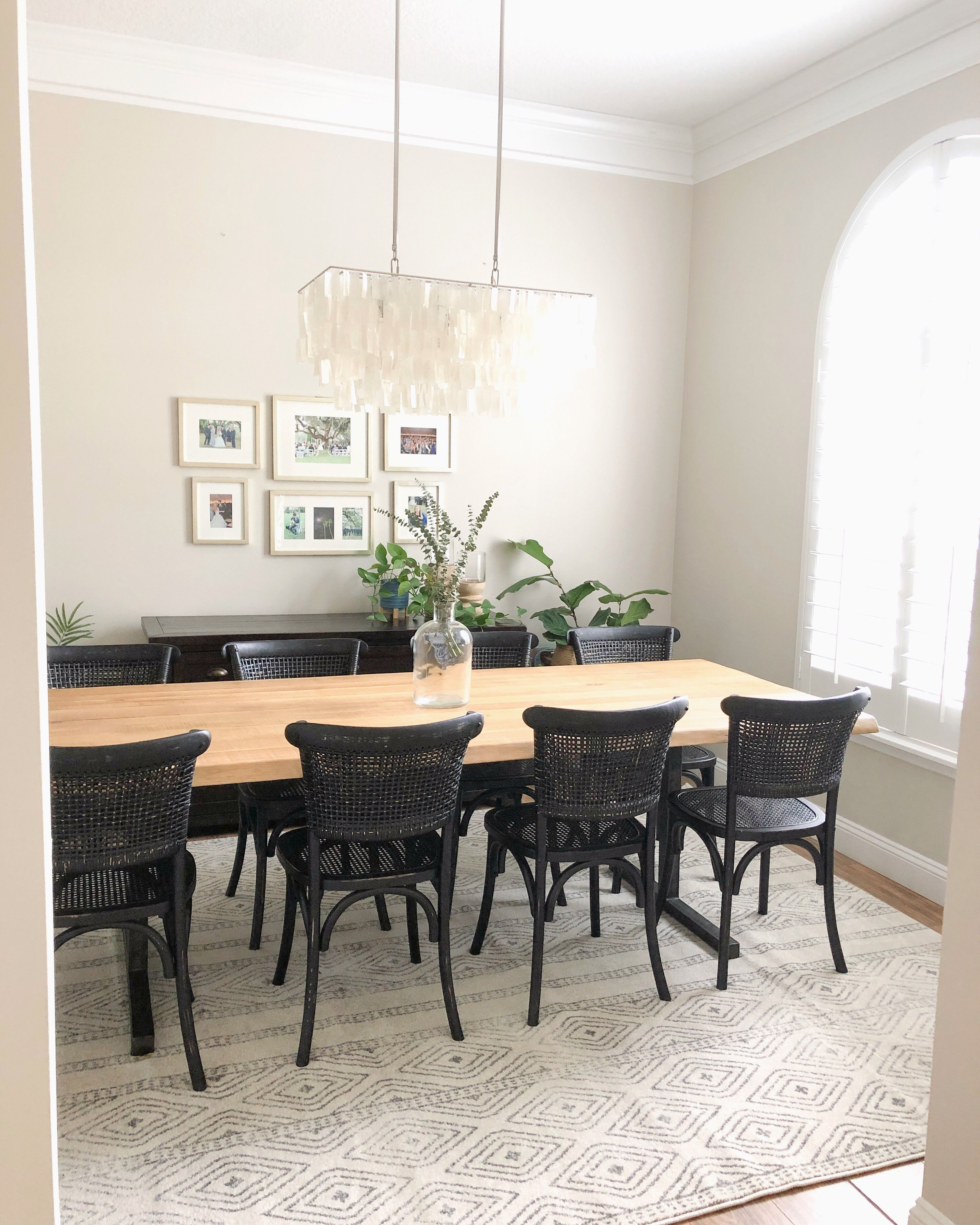 Booker Dining Table Black Dining Room Chairs Bohemian Modern