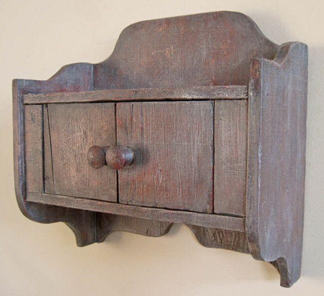 rustic barnwood wall cabinet | reclaimed wood wall cubby barnwood ...