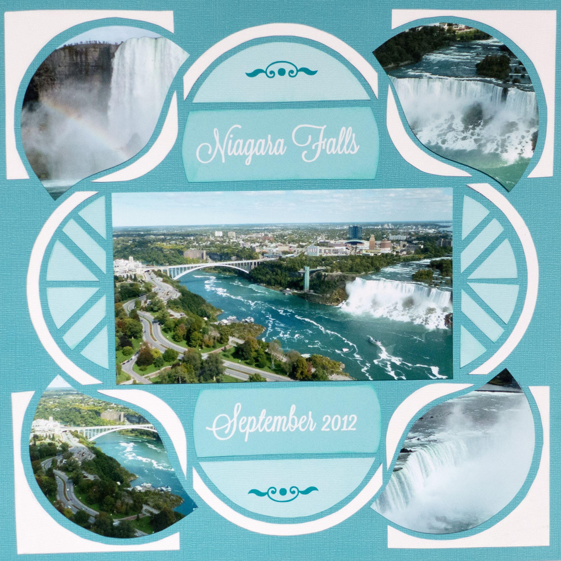 Niagara Falls Canada using Lea France Rings Stencil