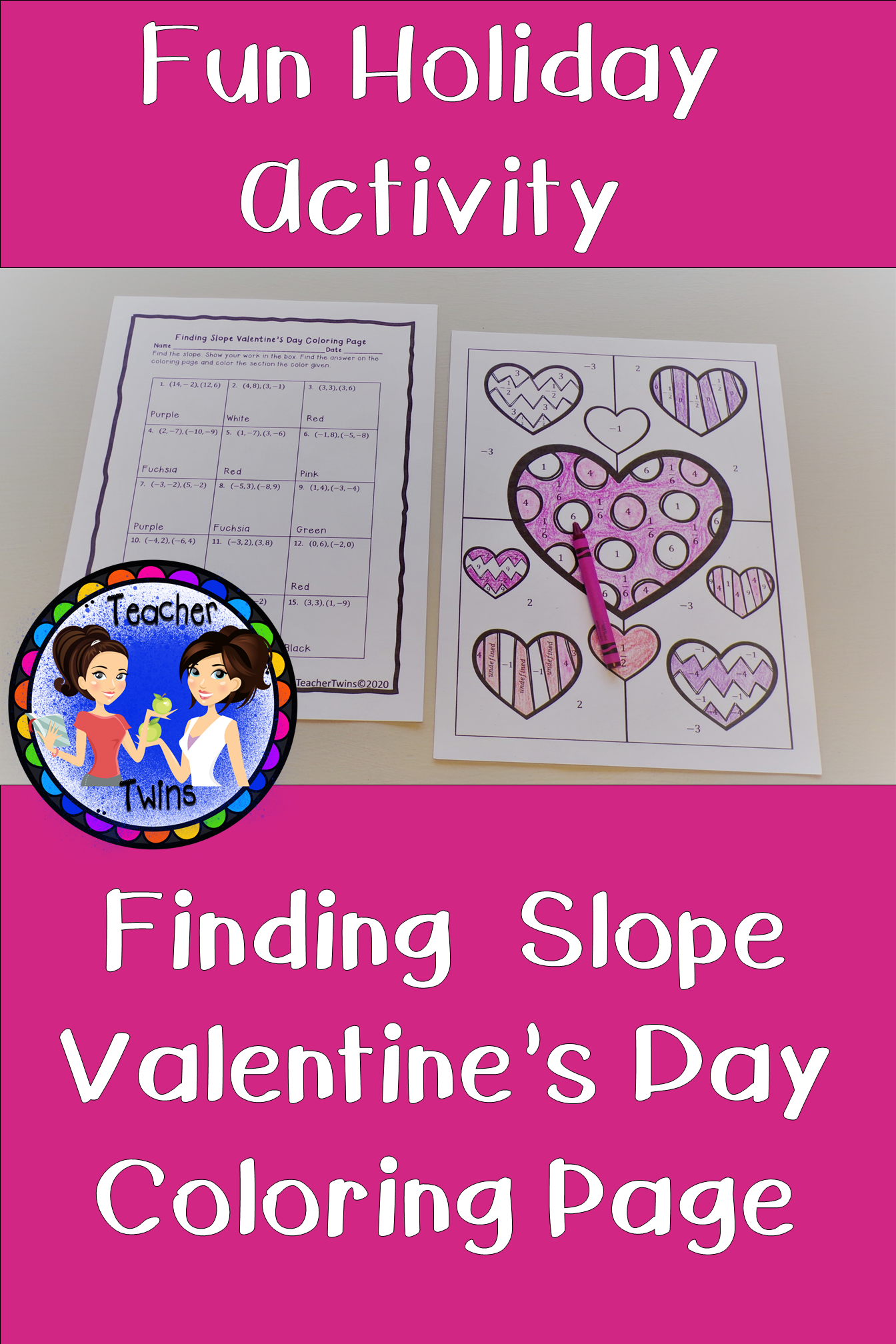 Finding Slope Valentine S Day Coloring Page
