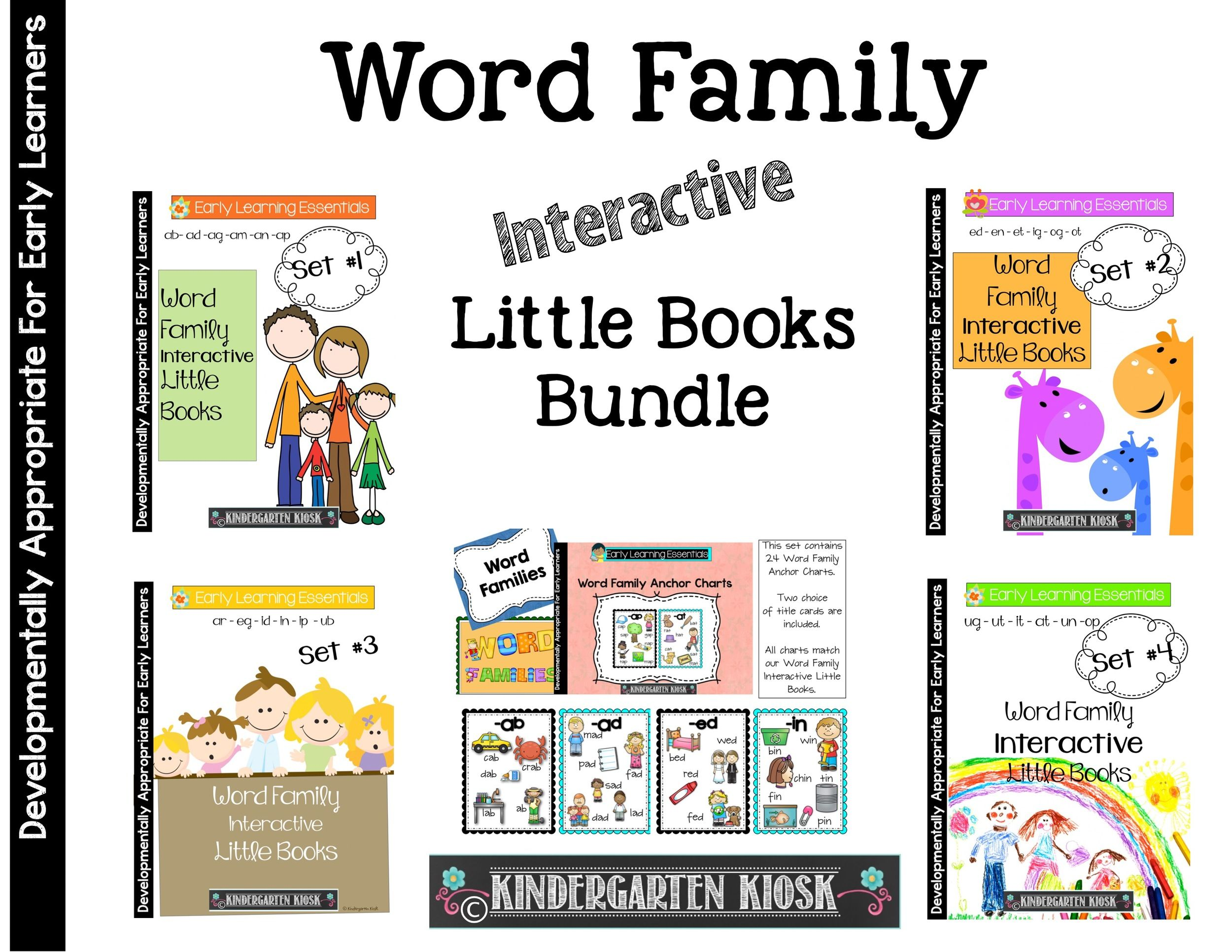 Word Family Interactive Little Books Bundle