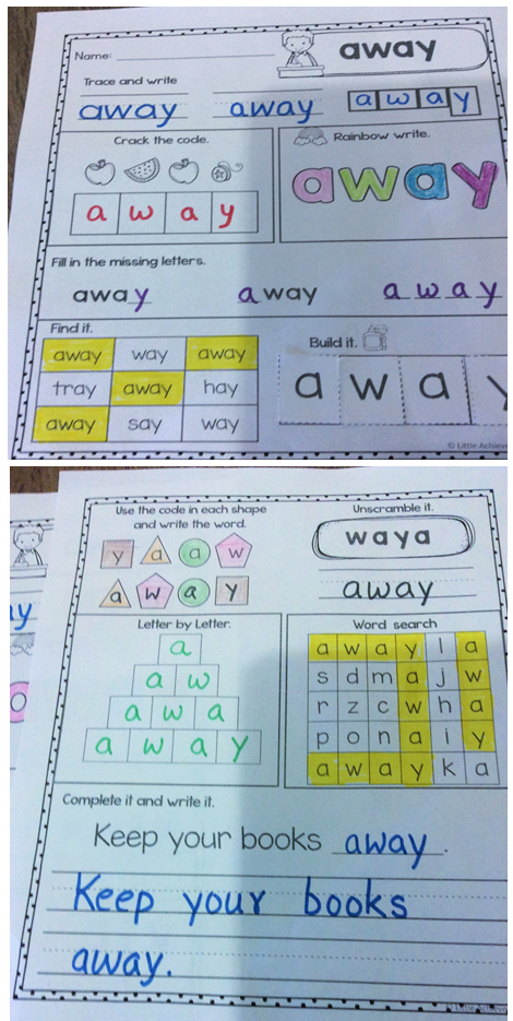 Sight Words Worksheets Kindergarten, First Grade, and Second Grade ...