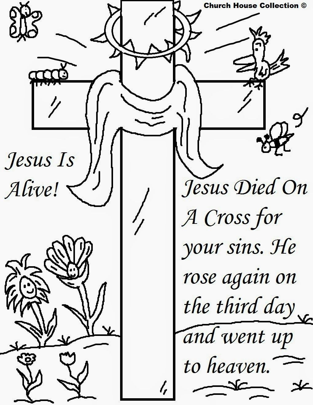 Church House Collection Blog: Easter Jesus Resurrection Coloring ...