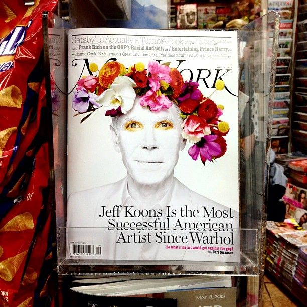 #NewYorkMagazine proclaims #JeffKoons is the most successful Artist since #AndyWarhol.