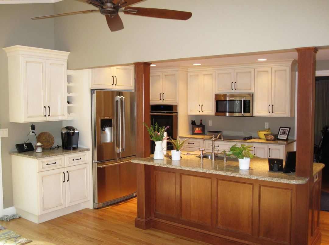 Custom Kitchen And Island In Traditional Style