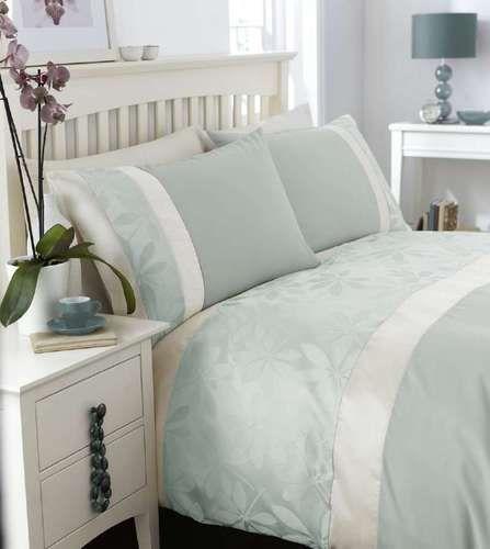 Duck Egg Blue Jacquard Duvet Set Ebay Uk Duck Egg Bedroom Home Bedroom Home
