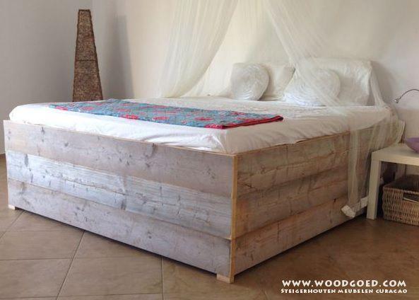 steigerhout bed 2 persoons google zoeken slaapkamer