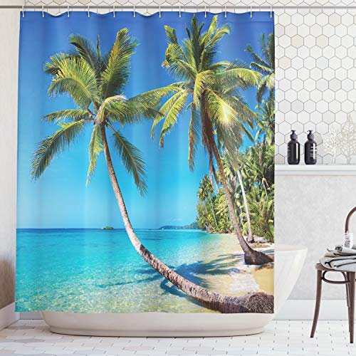 Ambesonne Kood Island Thailand Ocean Shower Curtain Beach Shower