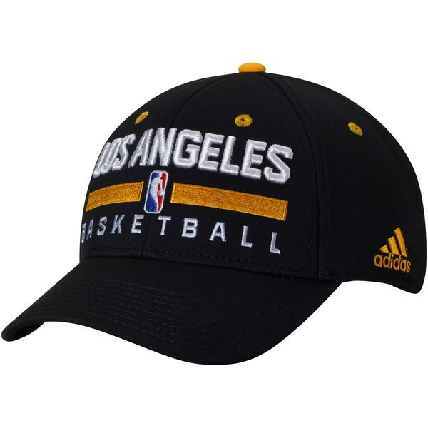 ac27e4507a6 Los Angeles Lakers adidas Practice Flex Hat - Black -  23.99 ...