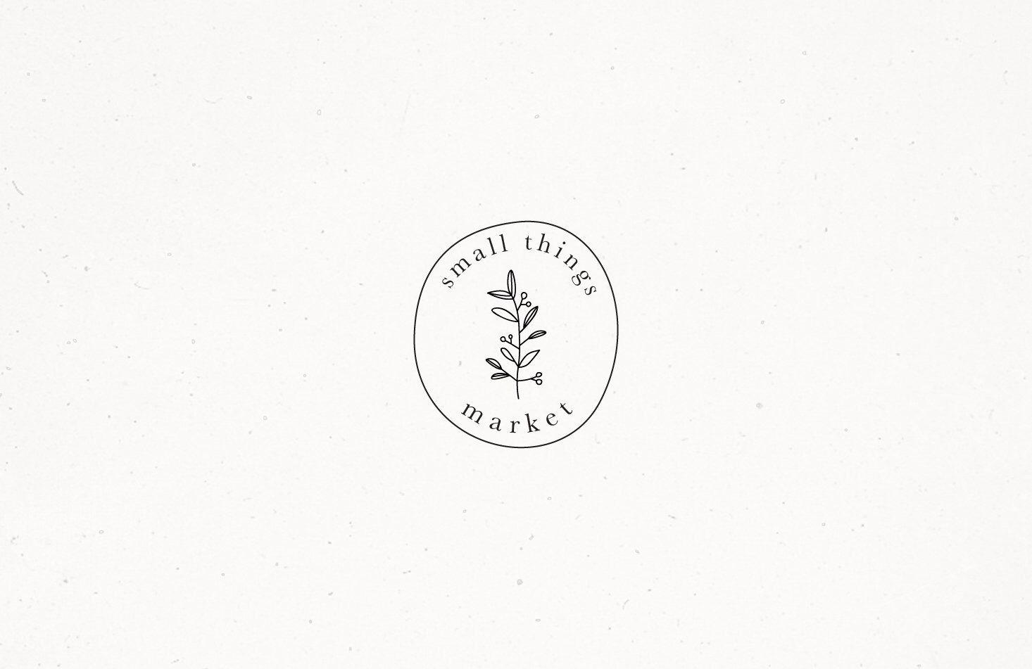 Premade Rustic Floral Logo Design Watermark Flowers Feminine