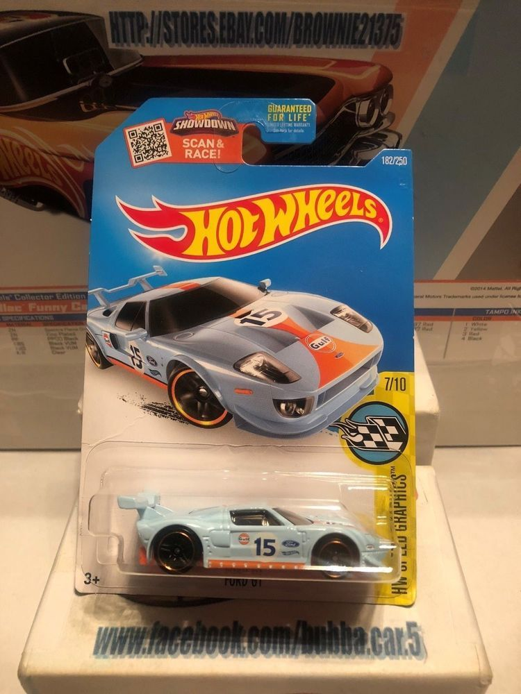 Hot Wheels 2016 Hw Speed Graphics Ford Gt Blue Gulf Racing 1 64