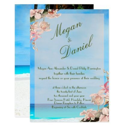 Orchids ocean flowers beach blue sky card wedding orchids ocean flowers beach blue sky card wedding invitations cards custom invitation stopboris