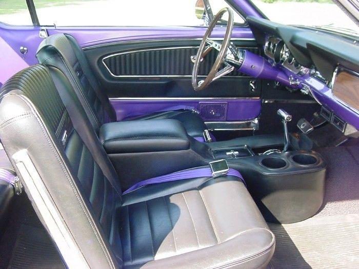 1966 Show Car Interior Purple Mustang Car Mustang