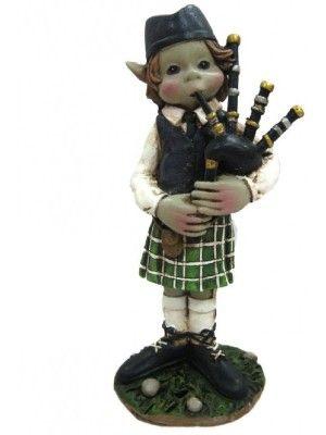 Elfe musicien avec kilt
