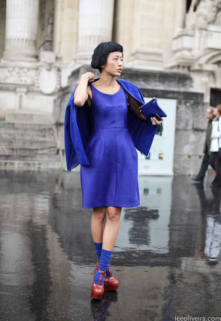 Electric blue mood - Paris via LeeOliveira