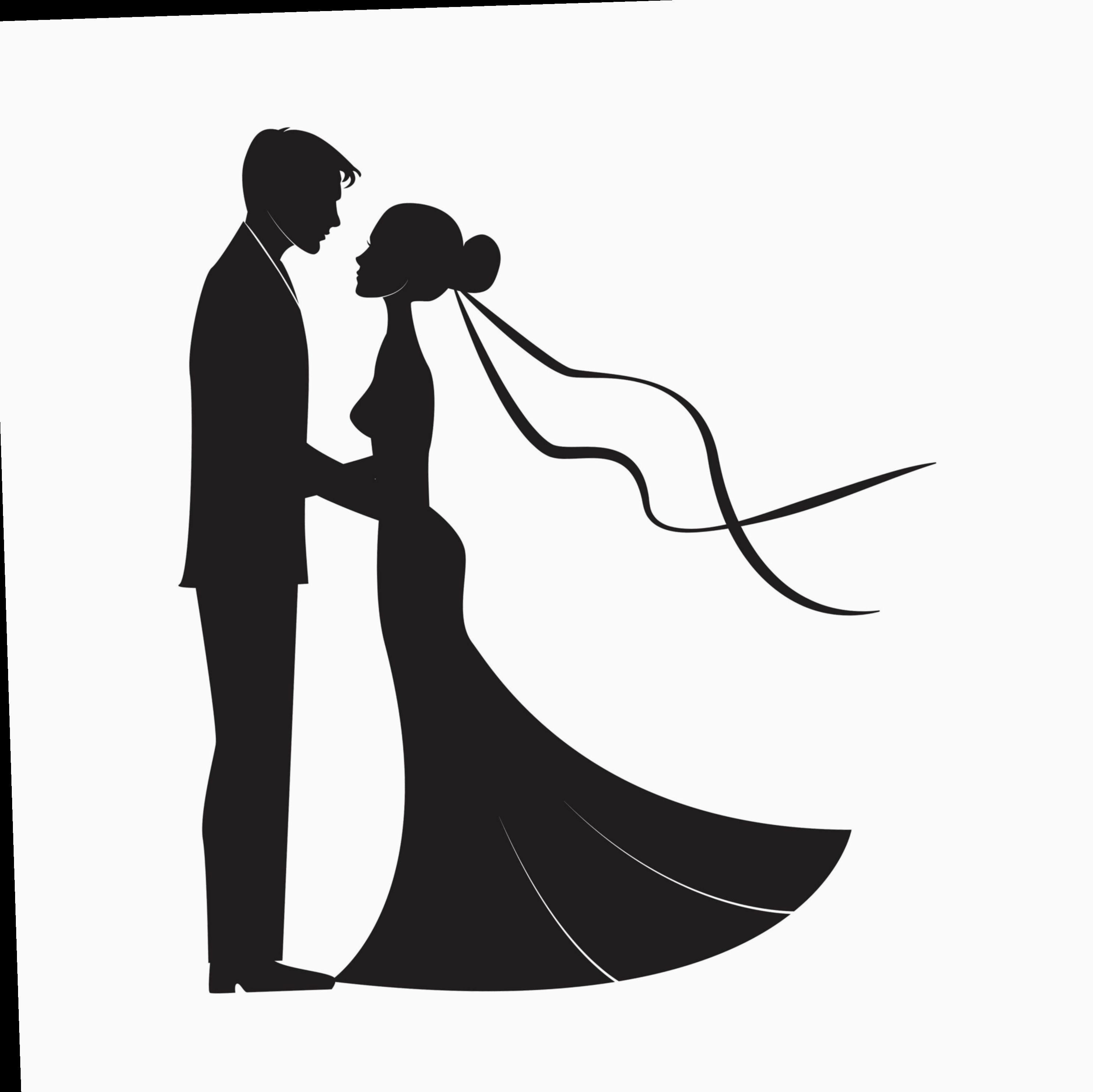 9 Couple Wedding Marriage Bride Groom Bride And Groom Silhouette Wedding Couples Wedding Drawing