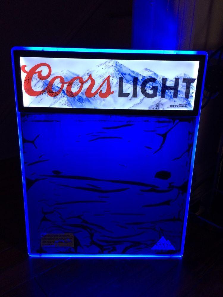 COORS LIGHT BEER SIGN MOTION DRY ERASE MENU BOARD LED