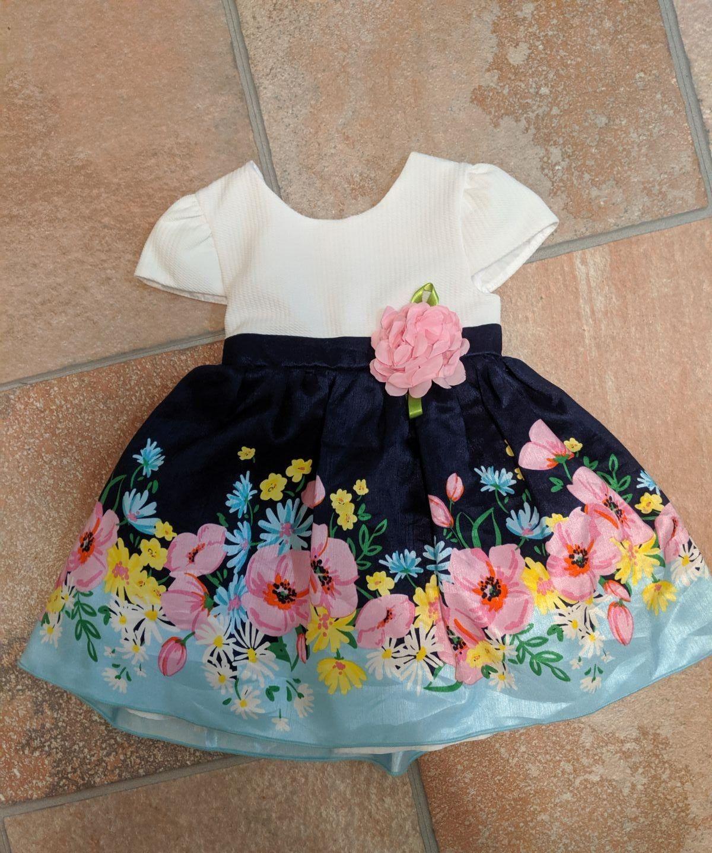 size 4 months dress flowers bow  Dresses, Flower dresses, Summer