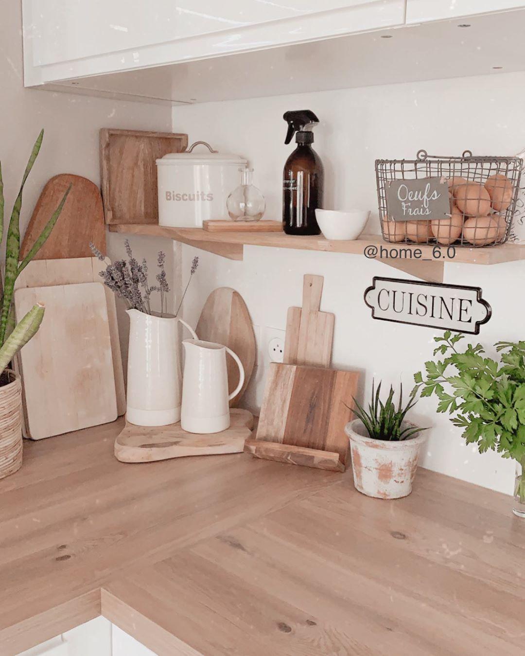 """@home_6.0 on Instagram: """"🍃 Une belle journée à tous  . #home #kitchen #kitchenhome #deco #decoaddict #wood #bois #frenchhome #decopassion #passiondeco…"""""""