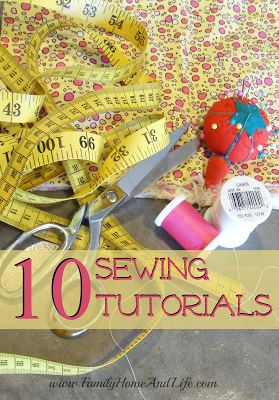 Family Home and Life: 10 Sewing Tutorials - Easy sewing projects--definitely trying the zipper pouch next!