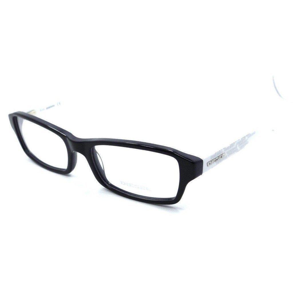 e70595e78434 New Authentic Diesel Rx Eyeglasses Frames DL5004 090 53-17-145 Black   White