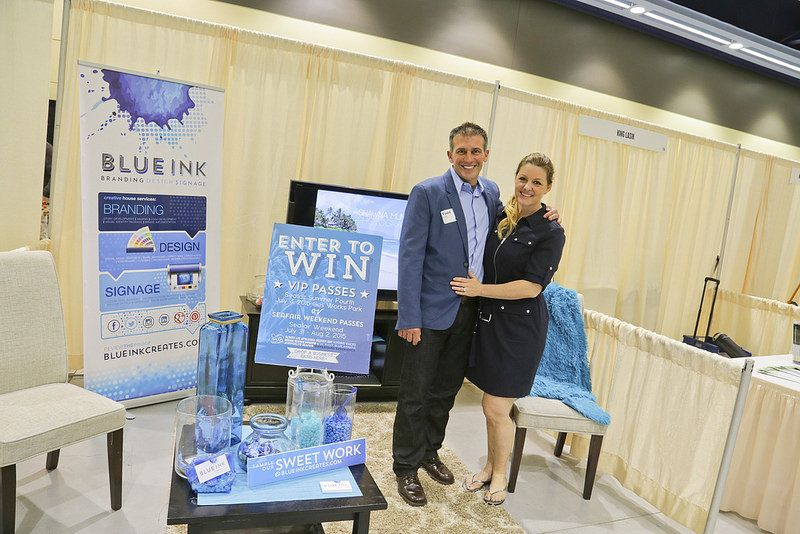 BLUE Ink booth at Tradeshow 2015 via Seattle Chamber Flickr