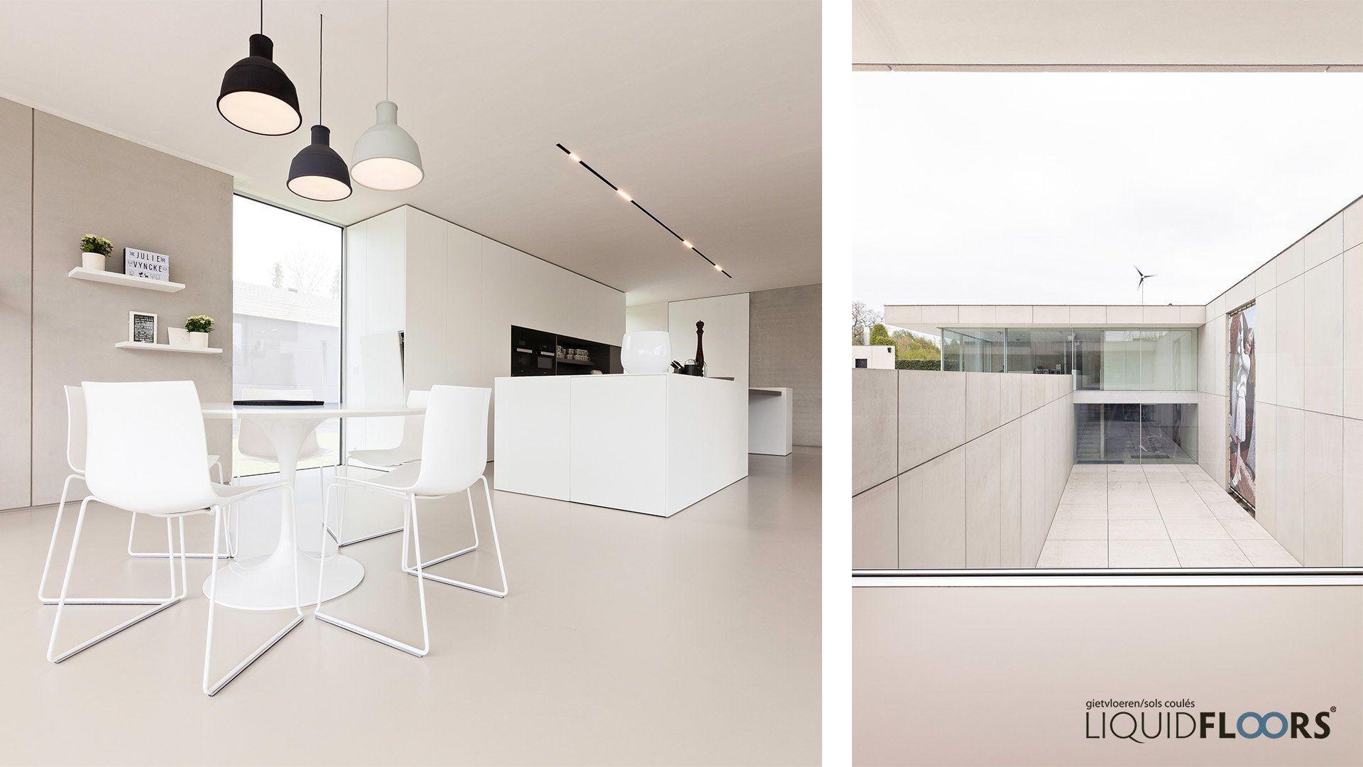 Design Keuken Gent : Interieur architect inrichting keuken design vloer betonlook