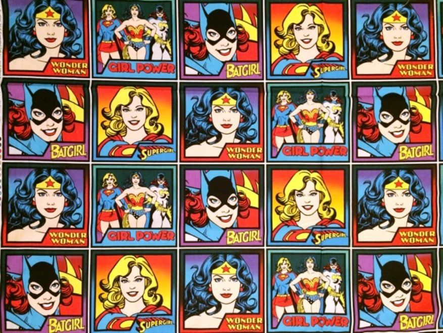Superhero Wonder Woman Labels - Panel -  Cotton http://www.elephantinmyhandbag.com/all.php#!/Superhero-Wonder-Woman-Labels-Panel-Cotton/p/51853569/category=2526021