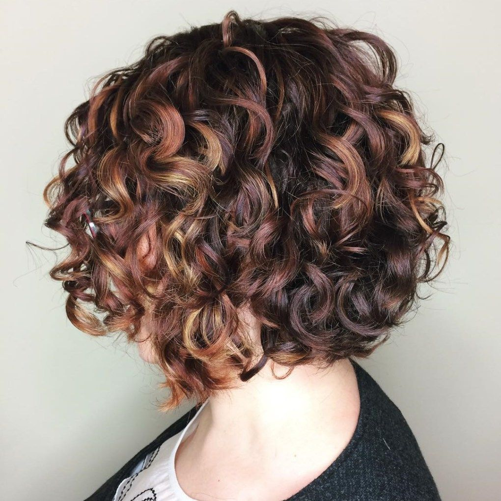 different versions of curly bob hairstyle acrylic painting