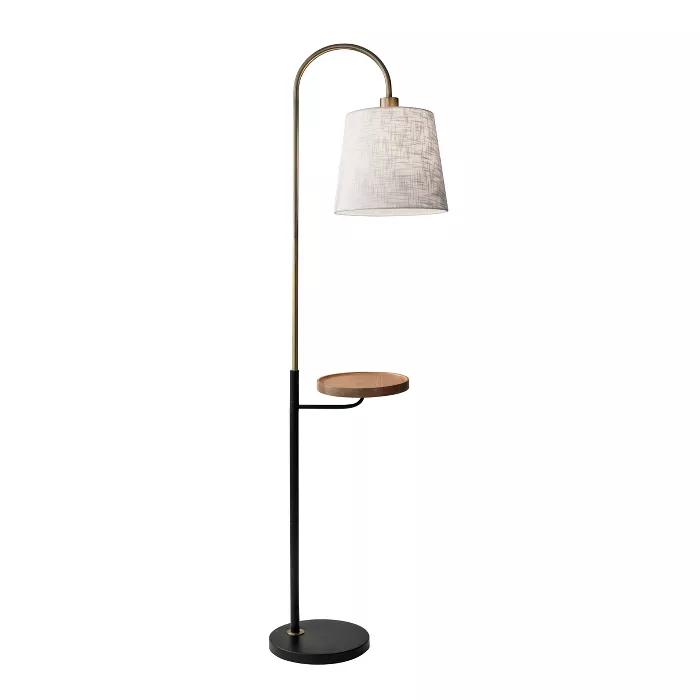 65 3 Way Jeffrey Shelf Floor Lamp Brass Adesso In 2020 Floor Lamp With Shelves Brass Floor Lamp Antique Brass Floor Lamp