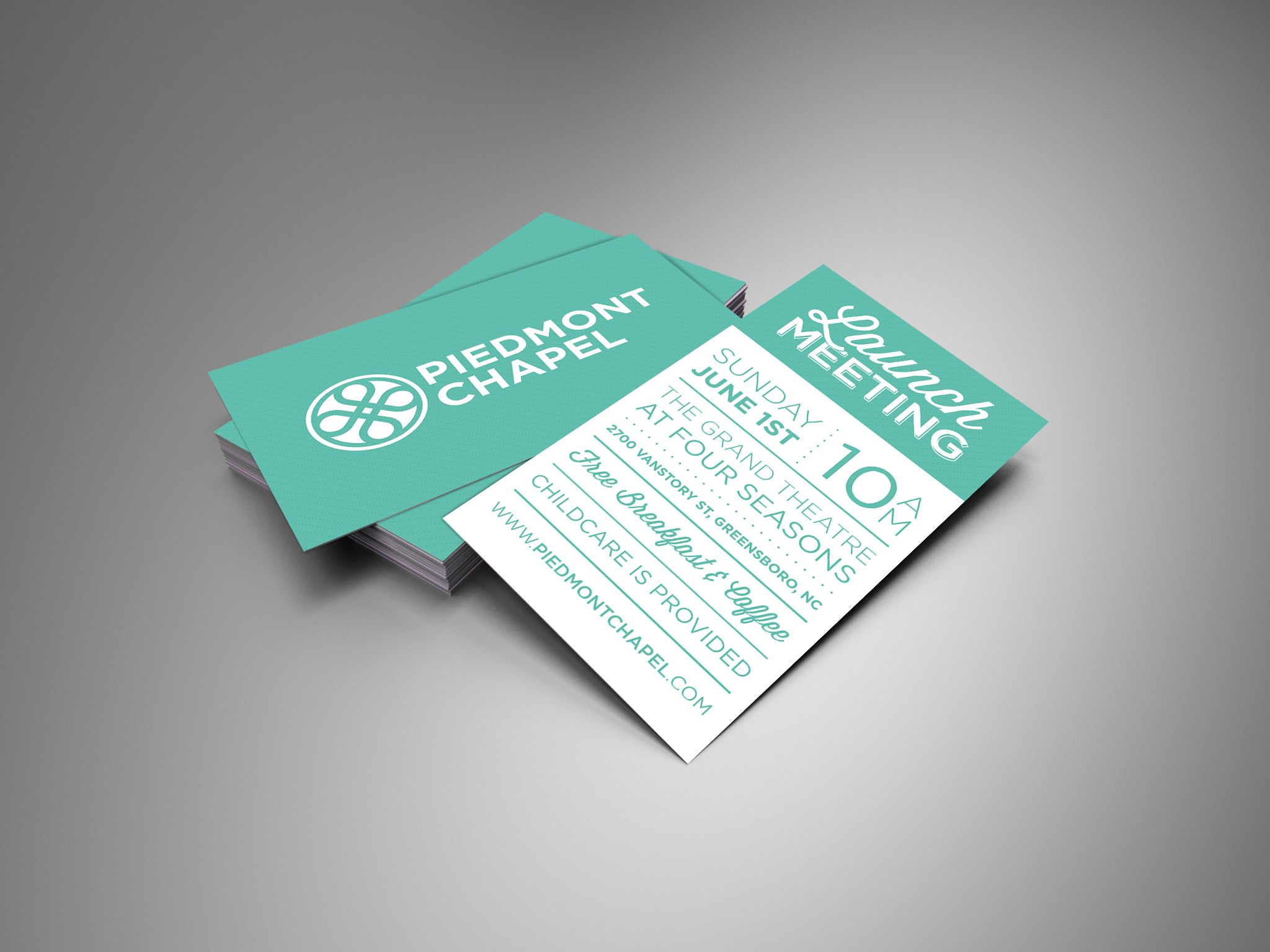 Piedmont chapel invite cards church print ideas church for Church business card designs