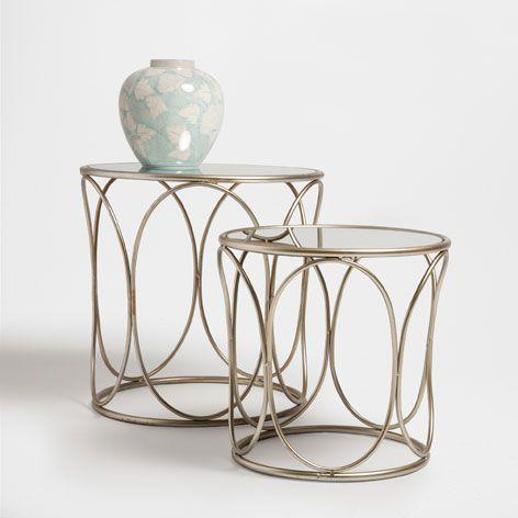 Runder Tisch Aus Metall Und Spiegel 2er Set Von Zara Home 149