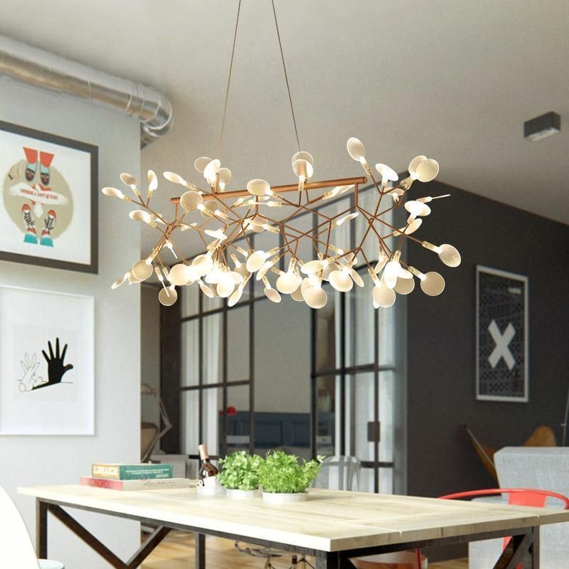 Modern Lighting Stick Firefly Lighting Art Lamps Living Room Modern Chandelier Industrial Light Fixtures